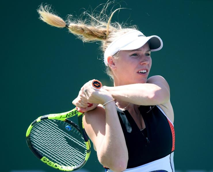Caroline Wozniacki Wozniacki hit two aces and won 64 percent of her first-serve points en route to defeating Aliaksandra Sasnovich 6-4, 2-6, 6-3 at Indian Wells