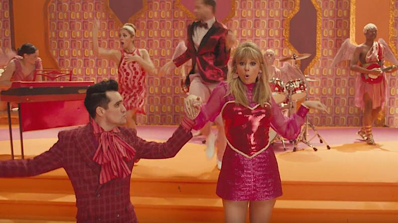 "Brendon Urie and Taylor Swift in ""ME!"" (Photo: YouTube)"