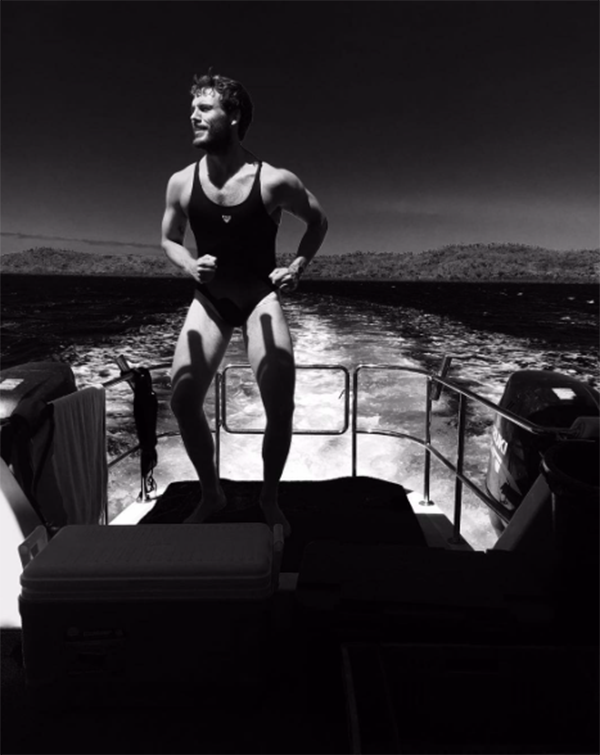 "<p>Shailene Woodley is such a good co-star that not only did she take this photo of Claflin, with whom she is currently shooting a film in Fiji, but she loaned him her swimsuit. Ouch. (Photo: <a href=""https://www.instagram.com/p/BX6q4MXFDjK/?hl=en&taken-by=mrsamclaflin"" rel=""nofollow noopener"" target=""_blank"" data-ylk=""slk:Sam Claflin via Instagram"" class=""link rapid-noclick-resp"">Sam Claflin via Instagram</a>)<br><br></p>"