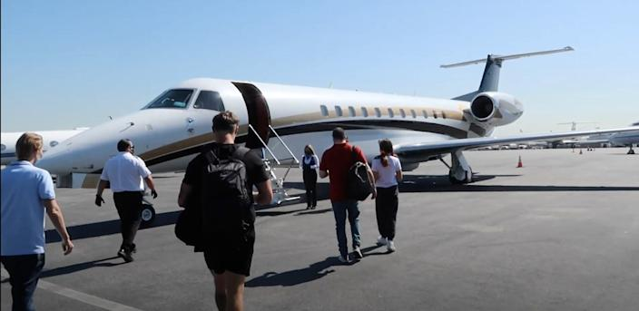 Some Clubhouse influencers rode in a private jet.