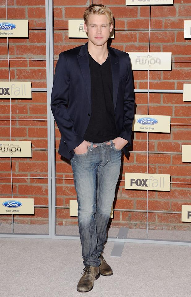 "Chord Overstreet (""Glee"") attends Fox's Fall 2012 Eco-Casino party at The Bookbindery on September 10, 2012 in Culver City, California."