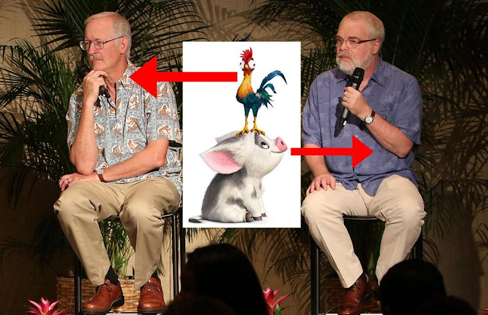 John Musker and Ron Clements at the 'Moana' press conference in Hawaii - Credit: Image.net/Disney