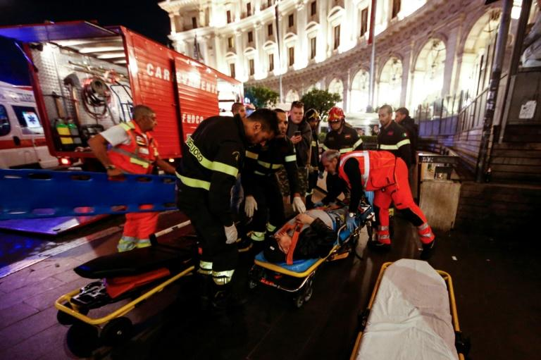 Many of those injured were fans of CSKA Moscow, who were playing Roma on Tuesday night