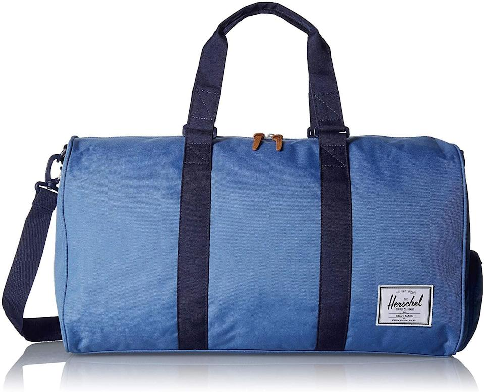 <p>Get this <span>Herschel Supply Co. Novel Duffel Bag</span> ($85) for the guy who always travels.</p>