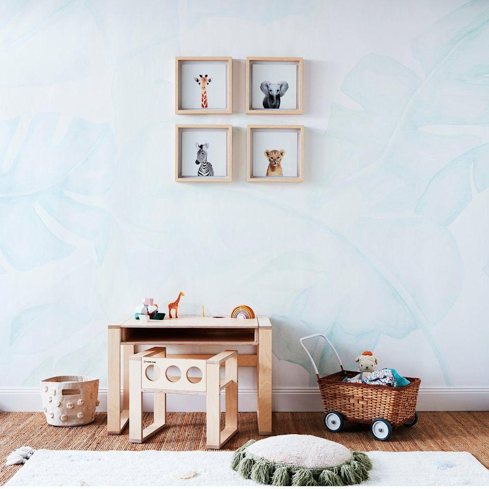 """<p>franklinemily.com</p><p><strong>$320.00</strong></p><p><a href=""""https://franklinemily.com/products/kids-desk-set"""" rel=""""nofollow noopener"""" target=""""_blank"""" data-ylk=""""slk:BUY NOW"""" class=""""link rapid-noclick-resp"""">BUY NOW</a></p><p>The built-in storage on this birch plywood desk holds books, pens, a water bottle, cords, and chargers. Plus, the desk comes with a chair that can be completely pushed underneath it to save space.<br></p>"""