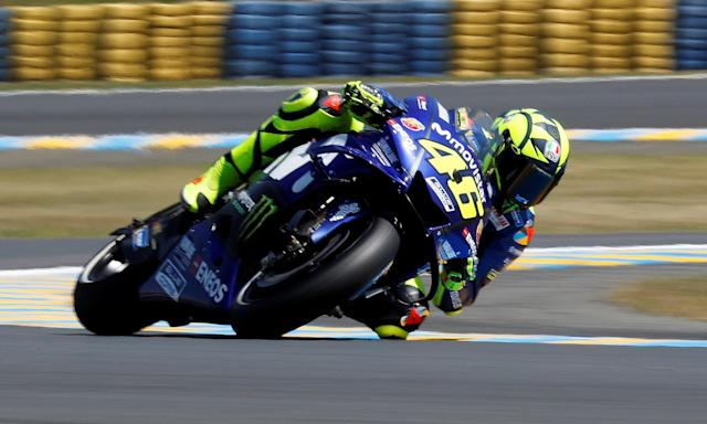 Motorcycling - MotoGP - French Grand Prix - Bugatti Circuit, Le Mans, France - May 18, 2018 Yamaha's Valentino Rossi during practice REUTERS/Gonzalo Fuentes