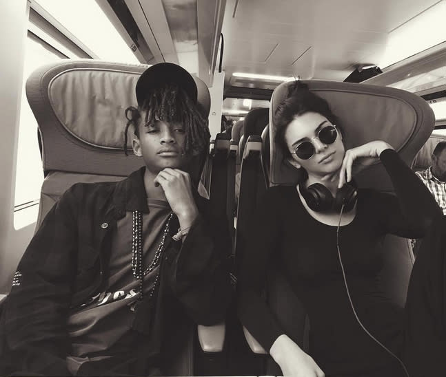 "<p>Best mates Jaden Smith and Kendall Jenner went first class as they traveled acrossed the pond to ""London town."" (Photo: Kendall Jenner via Instagram ) </p>"