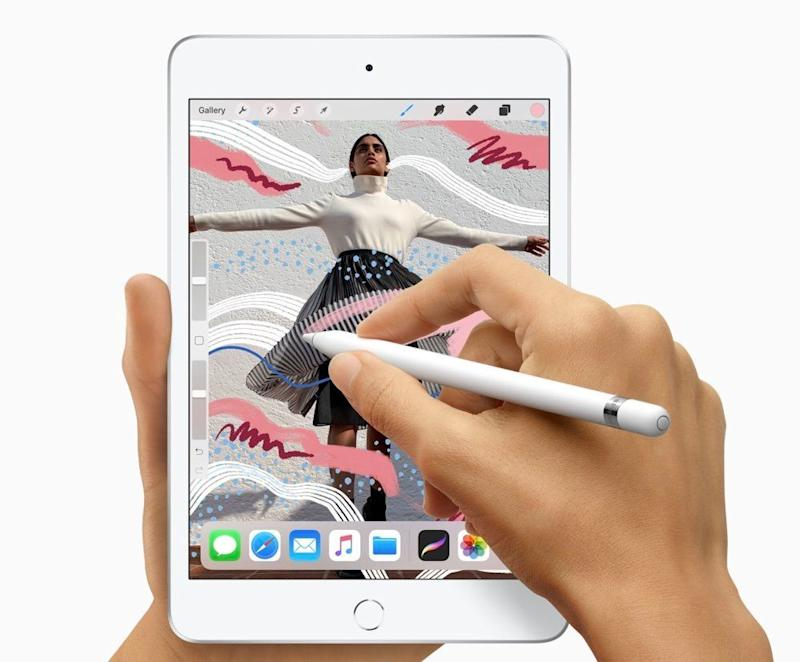 Apple has revamped its iPad Mini with improved performance, a brighter display and Apple Pencil support. (image: Apple)