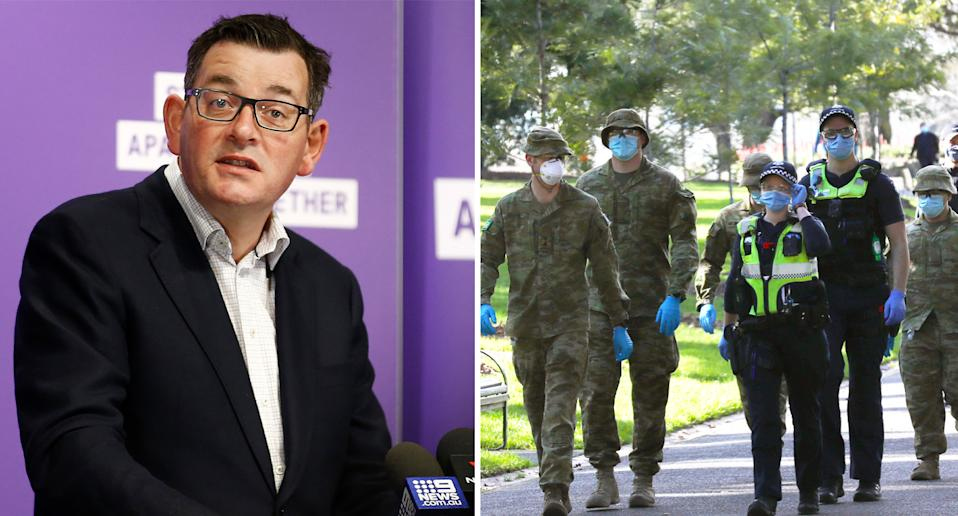 Members from the Australian Defence Force have been deployed in Victoria to assist health workers. Source: AAP