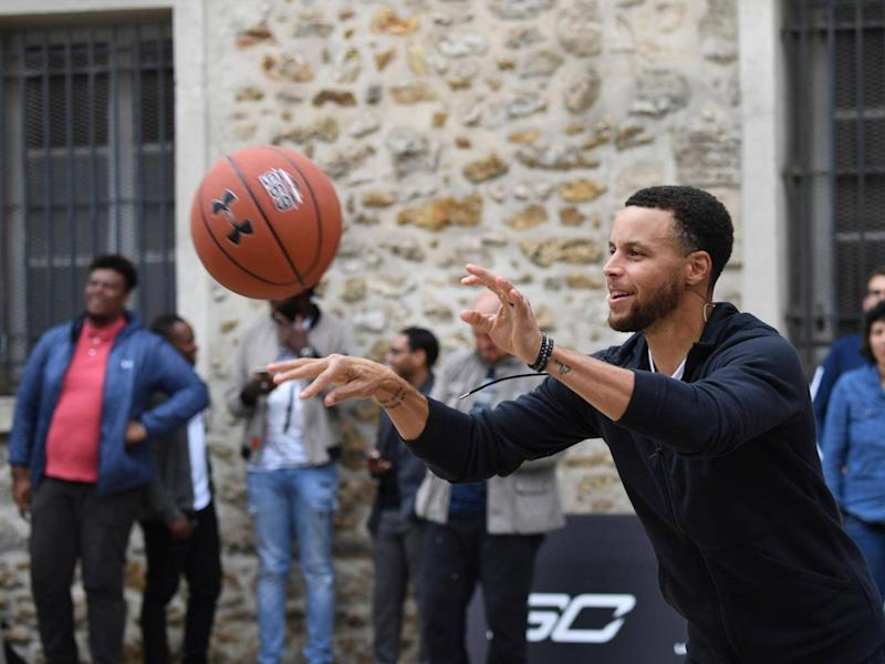 The American wants to use his profile to inspire others to take up basketball (Getty)
