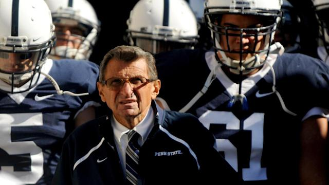 "The Penn State athletics department is officially ""commemorating the 50th anniversary of coach Paterno's first game as penn state head coach."""
