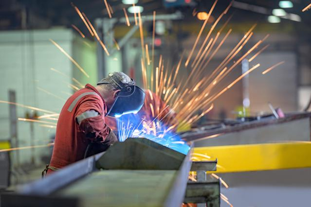 UK manufacturers are squeezed between a rock and hard place, according to IHS Markit. Photo: Getty