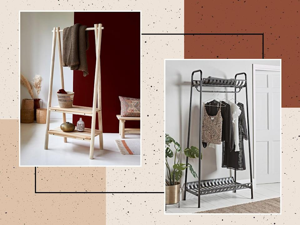 A standalone rail is also a great addition to the hallway, keeping it clutter free and organised without the need for drilling (iStock/The Independent)