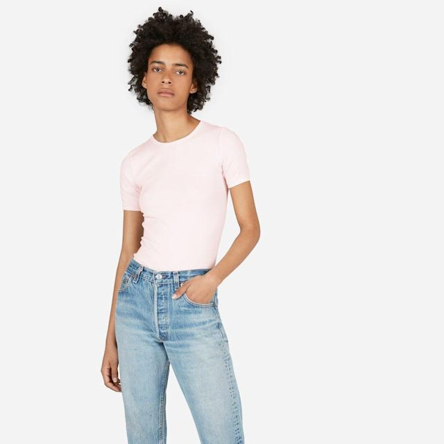 Everlane has become a go-to for basics. The brand, which <span>uses ethical factories</span>, offers a great selection of classic tees for $30 or less, and many styles of pants ring in under $100. Silk shirts and cashmere sweaters come with slightly higher price tags, but there are plenty of styles to choose from if you're open to a little splurge.<br><br><strong><span>Shop at Everlane</span></strong>