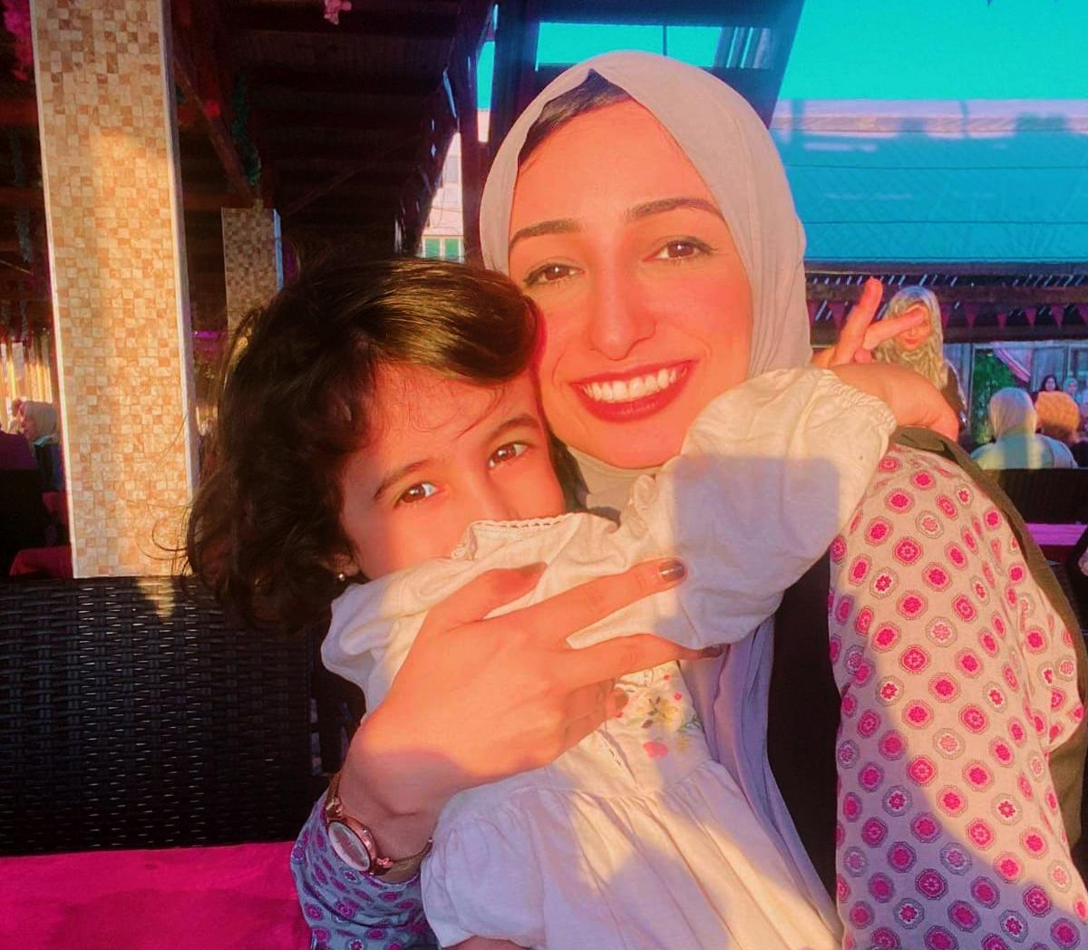 Israa Hatem and her daughter. (Courtesy of Israa Hatem)