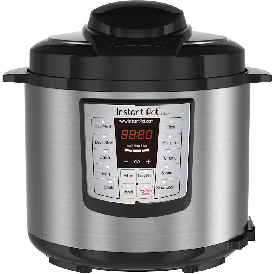 <p>This <span>Instant Pot 6 Qt 6-in-1 Multi-Use Programmable Pressure Cooker</span> ($103) is a chef's dream.</p>