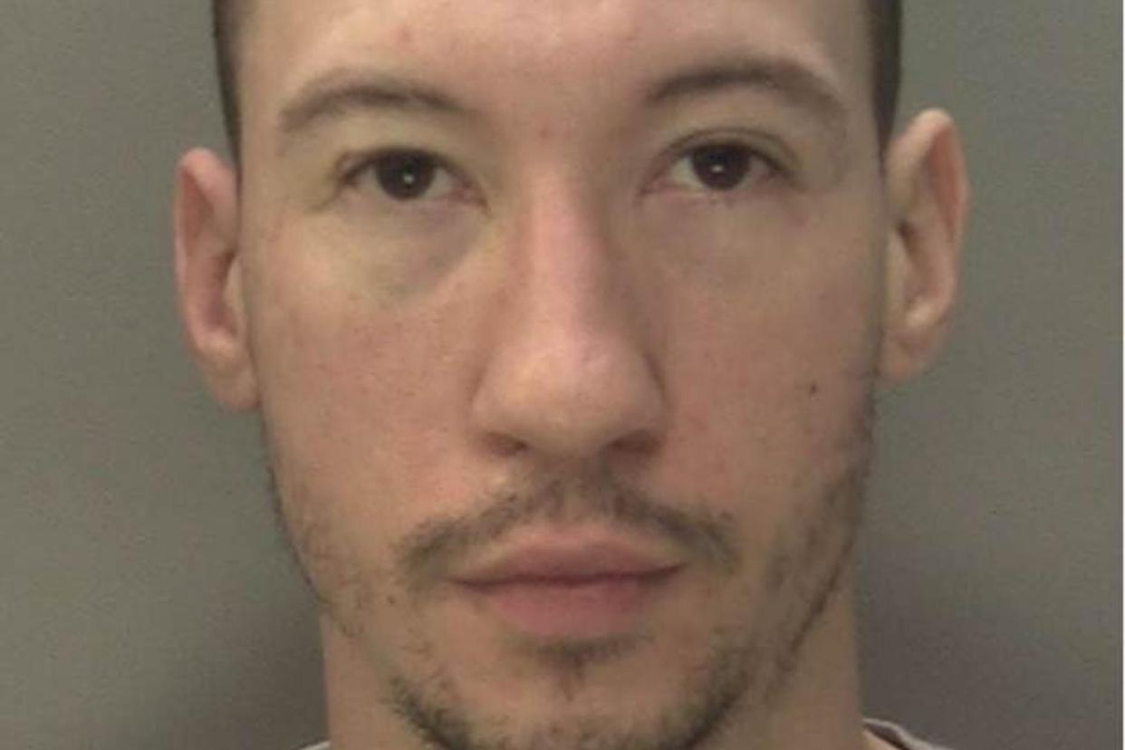 Jordan O'Connor, 28, was jailed after admitting to wounding, criminal damage, possession of two bladed weapons and affray