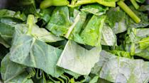 <p><strong>Cost: </strong>$2.28</p> <p>Frozen kale won't work in a salad, but it's great in soups, smoothies and stir-fries, and — unlike the fresh kind — you don't have to worry about it spoiling in your crisper drawer. Even in frozen form it's a nutritional powerhouse, providing a whole day's worth of vitamin A along with healthy amounts of calcium, vitamin C and iron. You'll save even more if you try growing your own kale and then freezing it.</p>