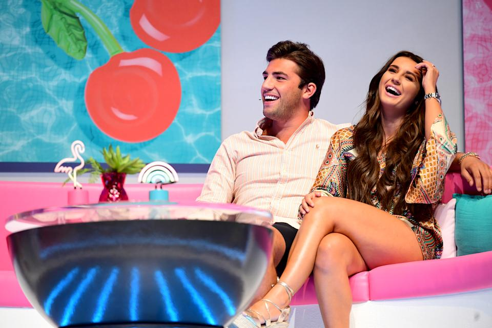 Jack Fincham (left) and Dani Dyer (right) attending the Love Island Live event at the ExCel, London. (Photo by Ian West/PA Images via Getty Images)