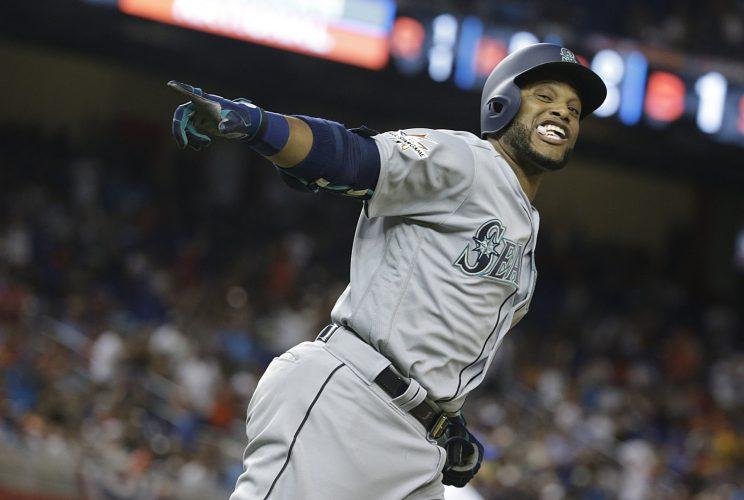 Robinson Cano has he rounded the bases after his All-Star homer. (AP)