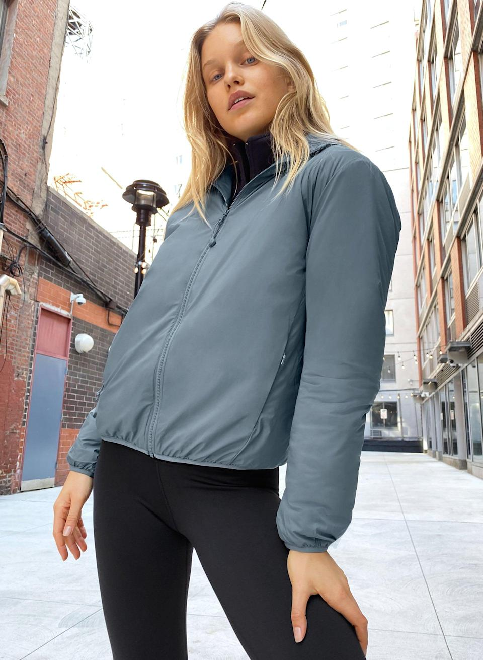 """<p><span>Aritzia Tna Pillow Puffer</span> ($110)</p> <p>""""I can't get enough of Artizia's warm and stylish puffer jackets and this TNA Pillow Puffer is a great lighter choice for California winters. It also comes in black, but I love the muted blue shade of this one."""" - Krista Jones, associate editor, shop</p>"""