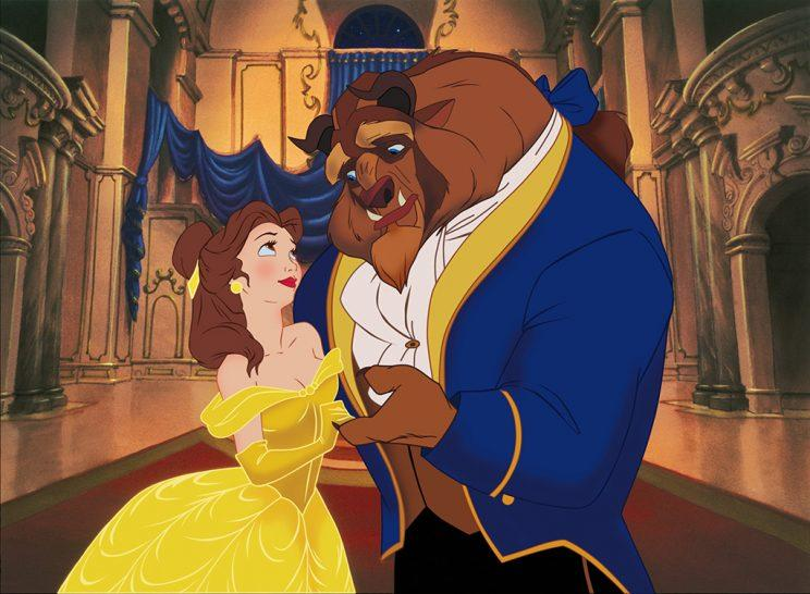 Belle and the Beast in the 1991 animated Beauty and the Beast.