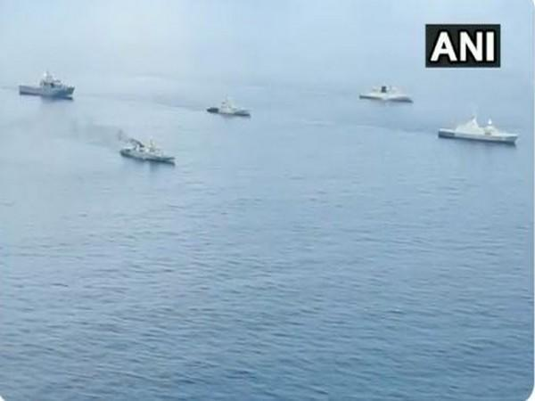 The two-day long exercise is scheduled in a 'non-contact, at sea only format'. (Photo/ANI)