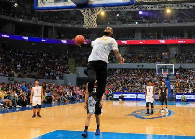 NBA star LeBron James wows fans in Manila exhibition game