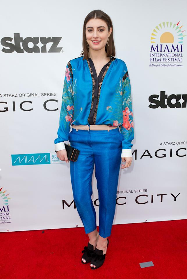 "Dominik Garcia-Lorido attends the ""<a target=""_blank"" href=""http://tv.yahoo.com/magic-city/show/46996"">Magic City</a>"" premiere at Colony Theater on March 4, 2012 in Miami Beach, Florida."