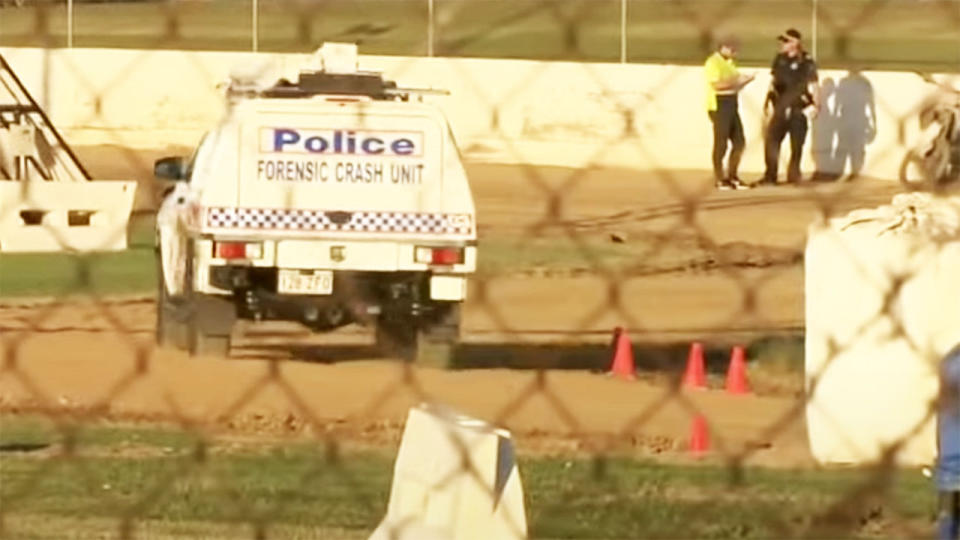 Queensland Police have asked anyone who may have footage of the race in which teenager Anthony Gordon was killed to turn it in for forensic crash investigators. Picture: Nine News Brisbane