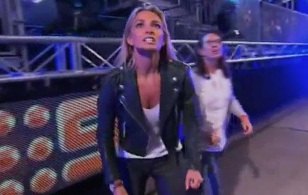 Fiancé Anna Heinrich was extremely vocal as she cheered from the sidelines. Source: Nine