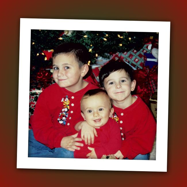 One of these three wise men grew up to be quite the Christmas caroler. Can you guess who the tyke on the right is?