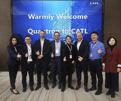 Quantron AG becomes importer of CATL in Europe. Quantron AG visit CATL. (PRNewsfoto/Quantron AG)