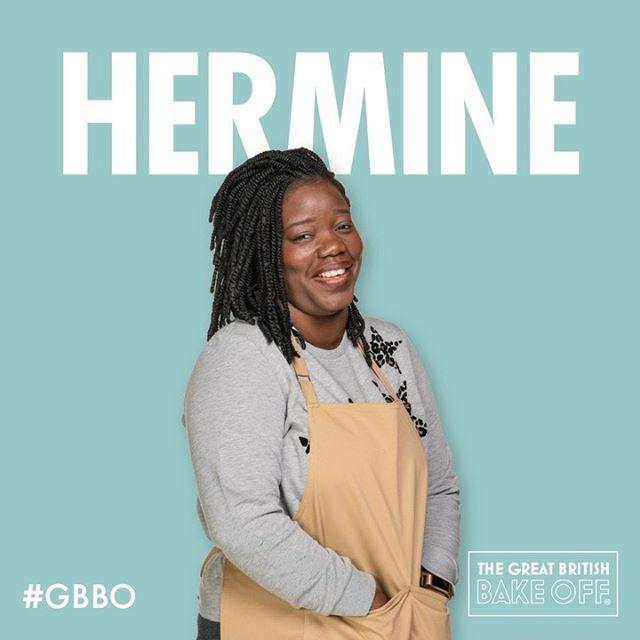 "<p><strong>Age: </strong>39<br><strong>From: </strong>London<br><strong>Job: </strong>Accountant</p><p><strong>What's her baking style like?</strong> The French influence in Benin has instilled in Hermine a love of high-end pâtissérie – she enjoys baking intricate millefeuille, éclairs and entremets.</p><p><strong>Strengths and weaknesses: </strong>""My strength is my understanding of how ingredients work together and how to get flavours right. My weakness is the ability to get a clean neat finish under time pressure.""</p><p><a href=""https://www.instagram.com/p/CFJl0bjAZm0/"">See the original post on Instagram</a></p>"