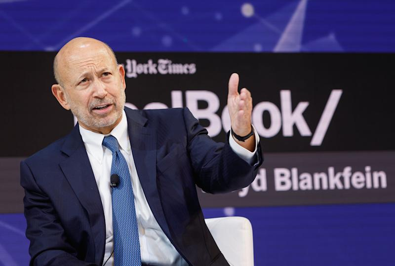 NEW YORK, NY - NOVEMBER 01: Lloyd Blankfein, Senior Chairman, The Goldman Sachs Group, Inc speaks onstage during the 2018 New York Times Dealbook on November 1, 2018 in New York City. (Photo by Michael Cohen/Getty Images for The New York Times)