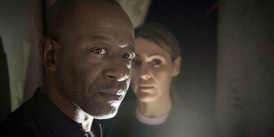 Lennie James as Nelly and Suranne Jones as Claire in Save Me (Sky)