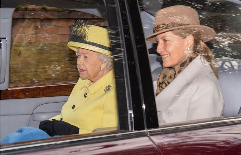 Queen Elizabeth and Sophie, Countess of Wessex | Joe Giddens/PA Images via Getty Images