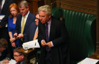 """Speaker John Bercow finally stood down shortly before Parliament dissolved for the General Election - but not before he became a villain for Brexiteers after they accused him of helping Remain-supporting MPs block Brexit. His <a href=""""https://uk.finance.yahoo.com/video/john-bercow-wild-commons-row-163824309.html"""" data-ylk=""""slk:theatrical monologues in Parliament;outcm:mb_qualified_link;_E:mb_qualified_link;ct:story;"""" class=""""link rapid-noclick-resp yahoo-link""""><strong>theatrical monologues in Parliament</strong></a> also saw him become something of a celebrity across the globe. (PA)"""