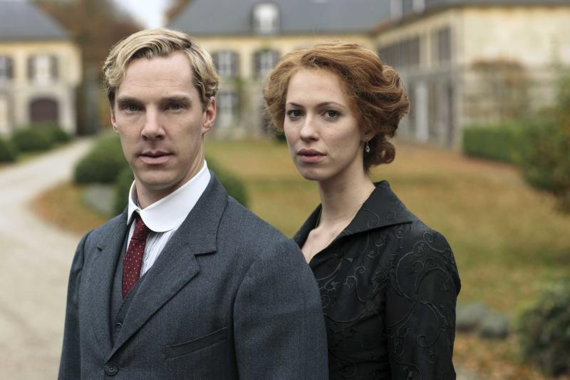 "This publicity image released by HBO shows Benedict Cumberbatch, left and Rebecca Hall are shown in the five-part miniseries ""Parade's End,"" debuting Feb. 26 on HBO. (AP Photo/HBO, Nick Briggs)"