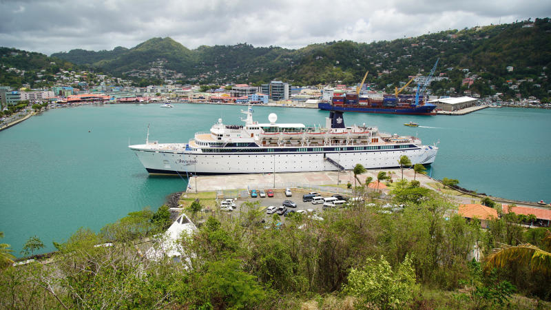 Cruise ship quarantined in St Lucia for measles heads to Curacao