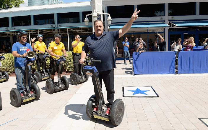 """Kevin James promoting the """"Paul Blart: Mall Cop"""" movie"""