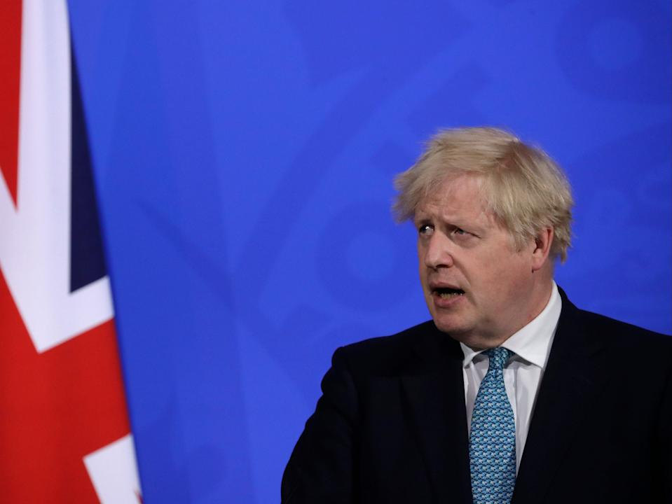 Boris Johnson warned of the risks posed by the Indian Covid-19 variant at a Downing Street briefing on Friday (Getty Images)