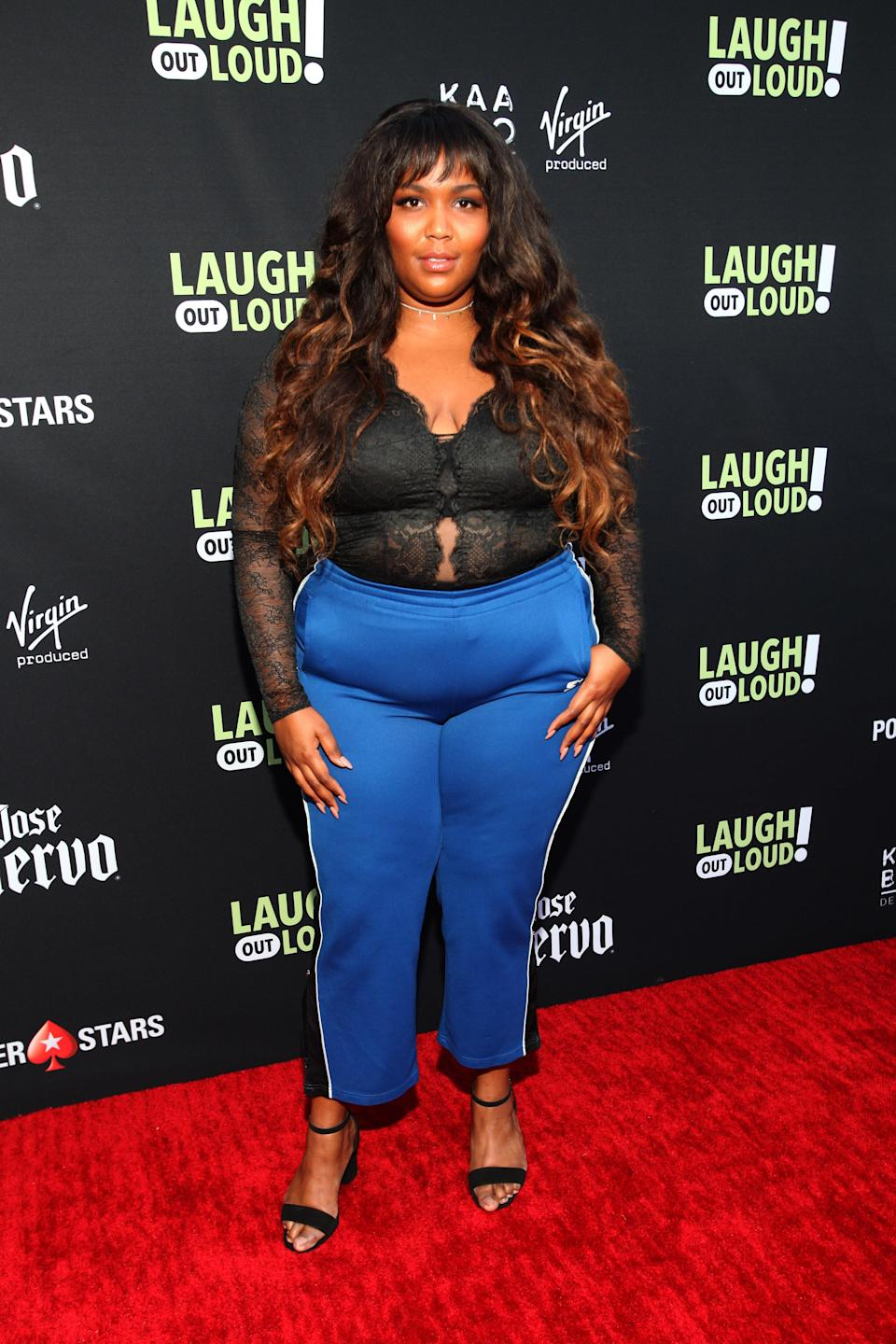 It takes courage to rock tracksuits to a red carpet and Lizzo's got plenty of that.