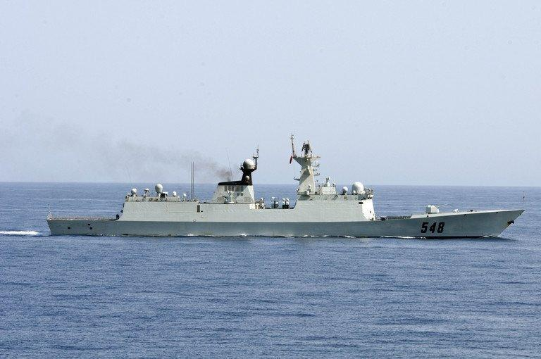 Chinese frigate Yi Yang sailing through the Gulf of Aden on September 17, 2012. Japanese Prime Minister Shinzo Abe has demanded Beijing apologise and admit that a Chinese frigate got a radar lock on a Japanese destroyer in international waters, according to reports in the Japanese media