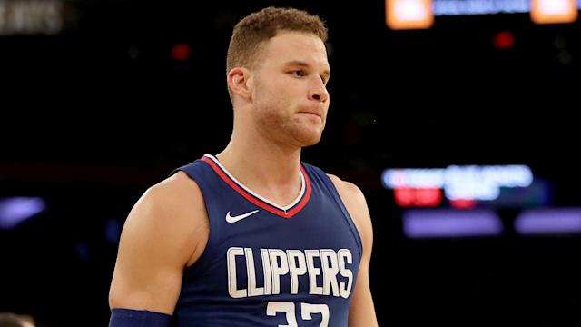 Blake Griffin reiterated he was shocked by his trade, and he repeatedly said Wednesday he is happy to be with a team that wants him.