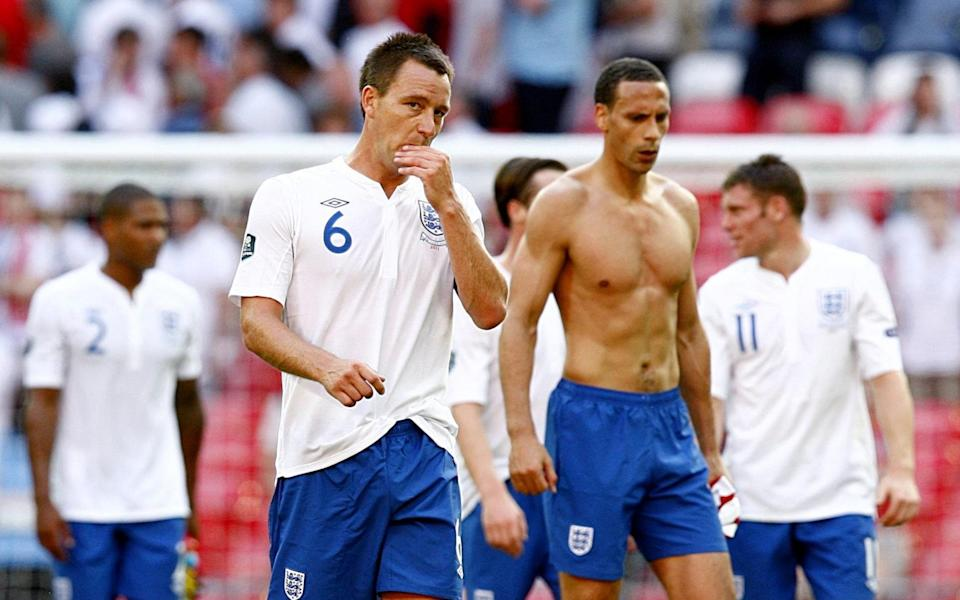 Terry and RIo Ferdinand playing for England in the summer of 2011 - PA