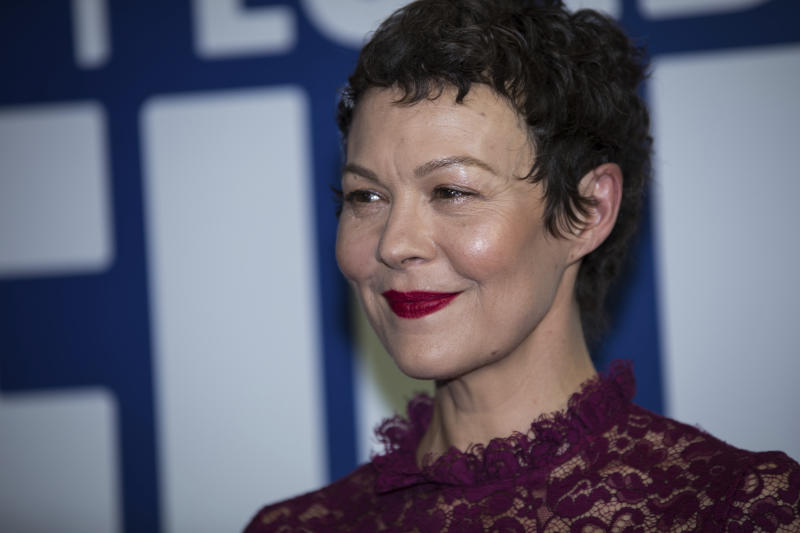 Actress Helen McCrory poses for photographers upon arrival at the London Film Festival Awards in London, Saturday, Oct. 14, 2017. (Photo by Vianney Le Caer/Invision/AP)