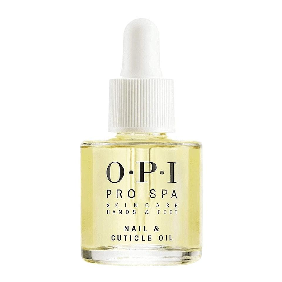 <p>Give your nails aand cuticles some extra love with this <span>OPI ProSpa Nail and Cuticle Oil</span> ($10). It contains grape seed, sesame, kukui, sunflower, and cupuacu oils for lightweight moisture.</p>