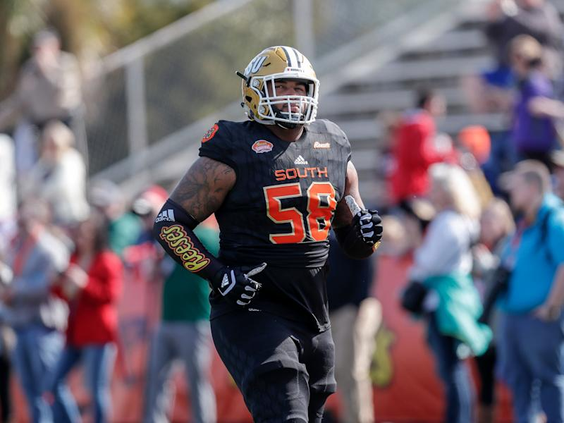 Alabama State OT Tytus Howard had a nice week at the Senior Bowl (Getty  Images 75f662656