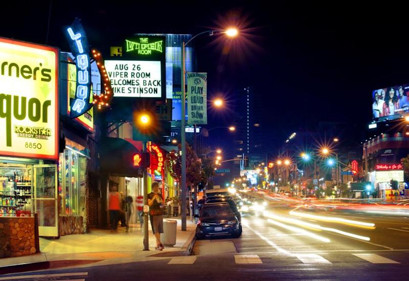 Johnny Depp's Viper Room on The Strip. Photo: Supplied